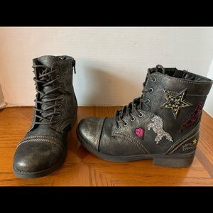 Justice For Girls SZ 4 Unicorn Ankle Boots